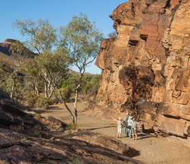Chambers Gorge aboriginal site. Flinders Ranges. South Australia