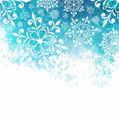 Christmas background with snowflakes. New Year card.