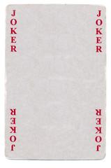 vintage joker playing card paper background