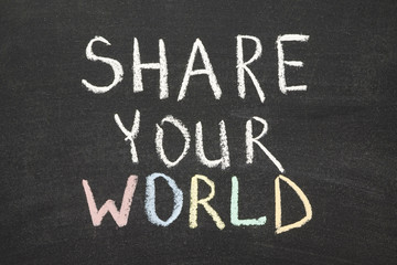 Wall Mural - share your world