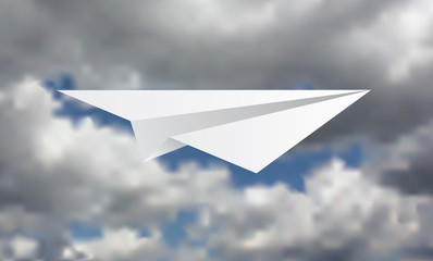 paper plane in storm