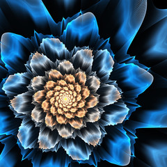 Wall Mural - Abstract futuristic fractal flower