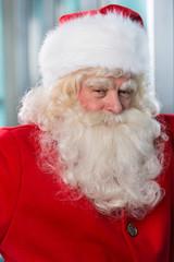 Santa Claus closeup portrait indoors