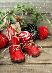 christmas stocking. festive nostalgic decoration