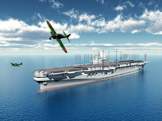 Japanischer Flugzeugträger aus dem zweiten Weltkrieg
