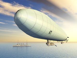 Deutsches Zeppelin aus dem ersten Weltkrieg