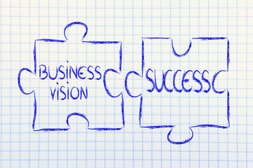 business vision & success,jigsaw puzzle design