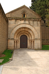 Roman Church in Poble Espanyol  in Barcelona, Spain