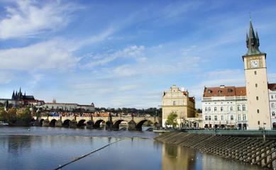 Prague Castle and Charles bridge, Czech Republic