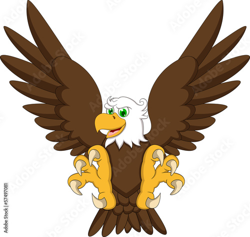 Quot cute eagle cartoon stock image and royalty free vector
