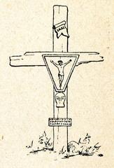 Roadside cross (Latgale, Latvia)