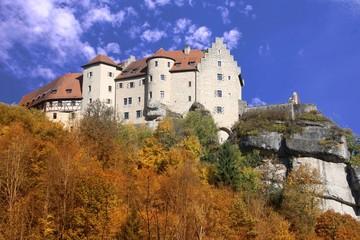Fall - autumn - golden october in Frankonia Burg Rabenstein