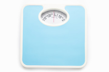 Bathroom scale isolate