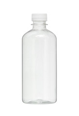 Plastic bottle (with clipping path) isolated on white background