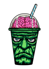 frankenstein monster cup