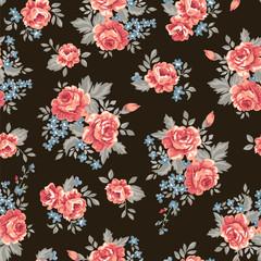 classic retro roses ~ seamless background