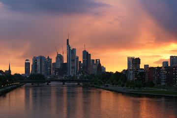 Wall Mural - Frankfurt skyline