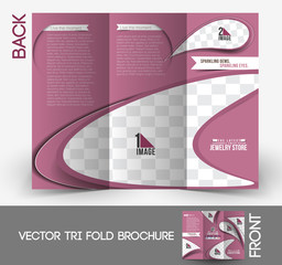 Jewelry Store Tri-Fold Brochure Design