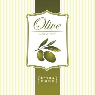 olive. Decorative olive branch. For label, pack. Olive pattern.