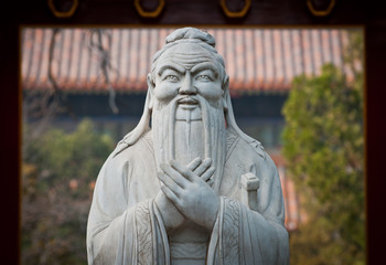 Foto op Plexiglas Beijing statue of Confucius in Temple of Confucius in Beijing, China