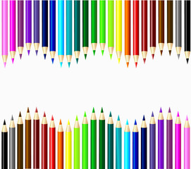 Set of color pencils vector