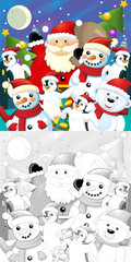 The coloring christmas page