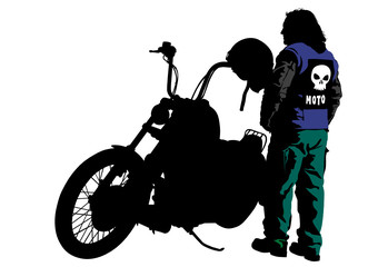 Wall Mural - Biker in suit