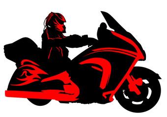 Fototapete - Hells bike
