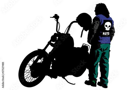 Fototapete Biker in suit