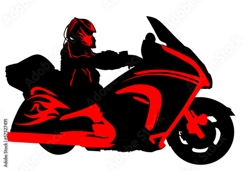 Fototapete Hells bike