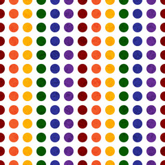 Rainbow Colored Polka Dot Textured Fabric Background