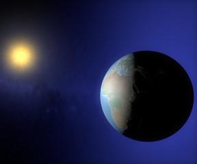 Mondo terra sole globo Europa Africa