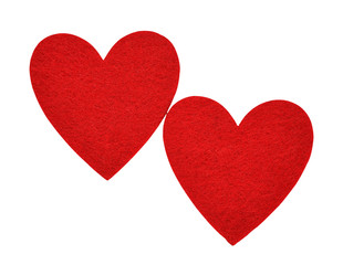Two red hearts