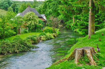 France, picturesque village of Ry in Seine Maritime