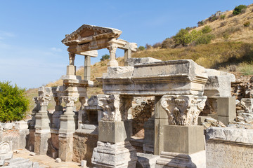 Fountain of Trajan in Ephesus, Turkey
