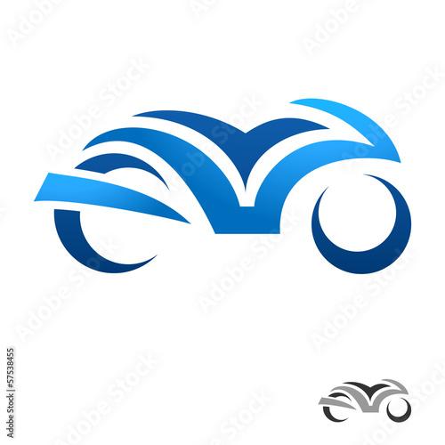 Fototapete Motorrad - motorbike icon