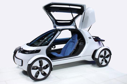 White car of the future