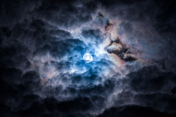 Dramatic Sky and moon