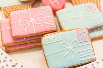 Cookies made as mail envelops