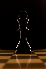 Backlit chess piece - king
