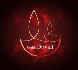 Beautiful art colorful diwali festival artistic diya vector desi