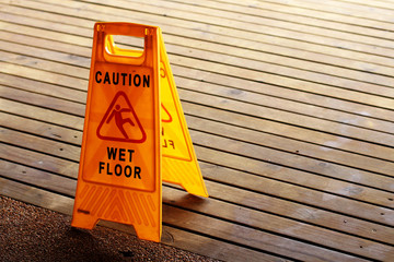 Wet Floor Caution Sign