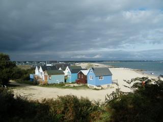 Beach Huts - storm Clouds