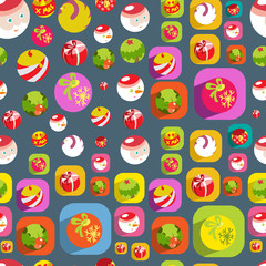 Cute Christmas colorful flat seamless background