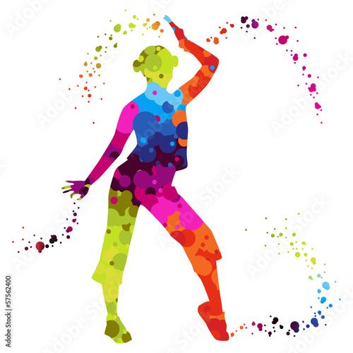 quot zumba with colored dots quot  im u00e1genes de archivo y vectores hip hop dance images clip art hip hop dance clip art girls