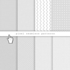 Light pixel seamless patterns