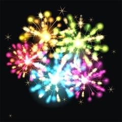 buntes Vektor Feuerwerk
