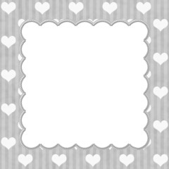 Gray Stripes and White Hearts background for your message or inv