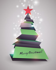 Creative Christmas tree card.