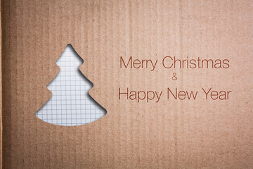 Christmas background with Christmas tree, illustration.